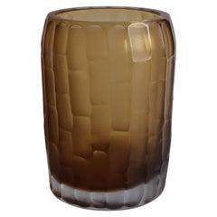 21st Century by Micheluzzi Glass Rullo Tall Honey Vase Handmade Murano Glass