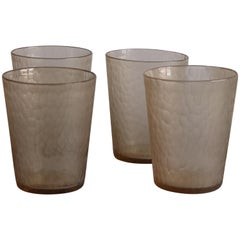 21st Century by Micheluzzi Glass Serpenti Six Glasses Handmade Murano Glass