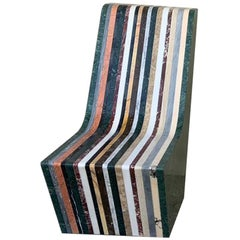 21st Century by M.Nocchi e A.Tazzini Recycled Polichrome Marble Bench Matrioska