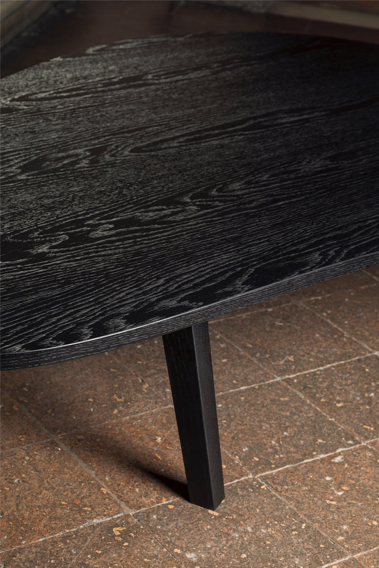 Modern 21st Century by Pelizzari Studio Oak Wood Coffee Table Black For Sale