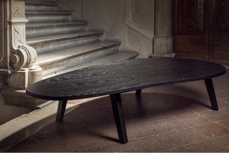 21st Century by Pelizzari Studio Oak Wood Coffee Table Black In New Condition For Sale In Brescia, IT