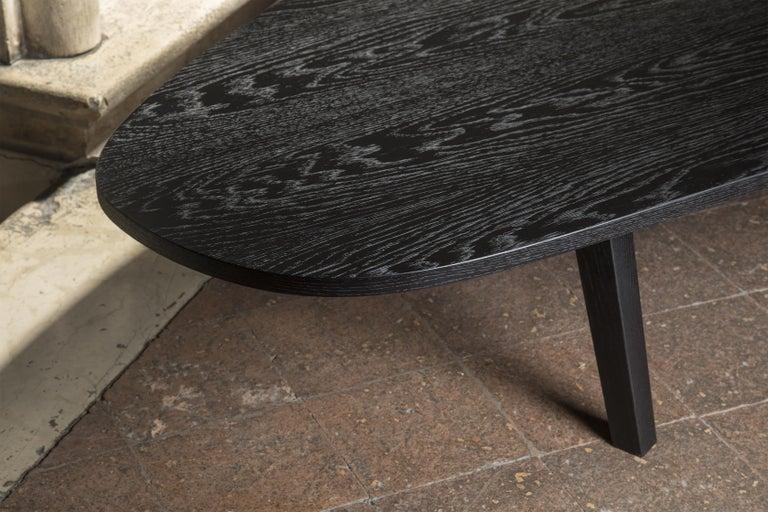 Contemporary 21st Century by Pelizzari Studio Oak Wood Coffee Table Black For Sale