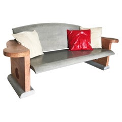 """21st Century by S.Asti """"DIVANO POLICROMO 1"""" Indoor/Outdoor Marble Bench"""
