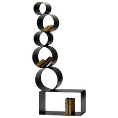 21st Century by Saverio Incombenti Bookcase Steel Artisan Welded