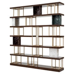 21st Century Carpanese Home Italia Bookshelf Modern, Aida 220