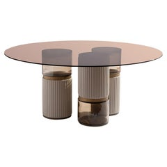 21st Century Carpanese Home Italia Coffee Table with Glass Modern, Imperial R