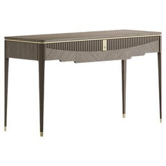 21st Century Carpanese Home Italia Console with Metal Details Modern, 7333