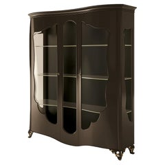 21st Century Carpanese Home Italia Glass Cabinet with Wood Neoclassic, 6208