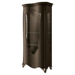 21st Century Carpanese Home Italia Glass Cabinet with Wood Neoclassic, 6217