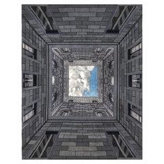 21st Century Carpet Rug Sottosopra II in Himalayan Wool and Silk, Blue, Grey