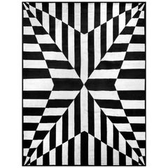 21st Century Carpet Rug Stella in Himalayan Wool Black, White
