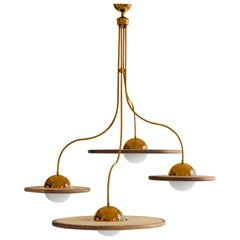 21st Century Cassini Glass Chandelier with Cane, Copper