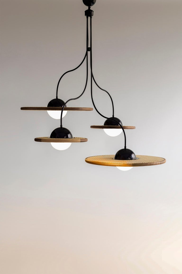 Turkish 21st Century Cassini Glass Chandelier with Cane For Sale