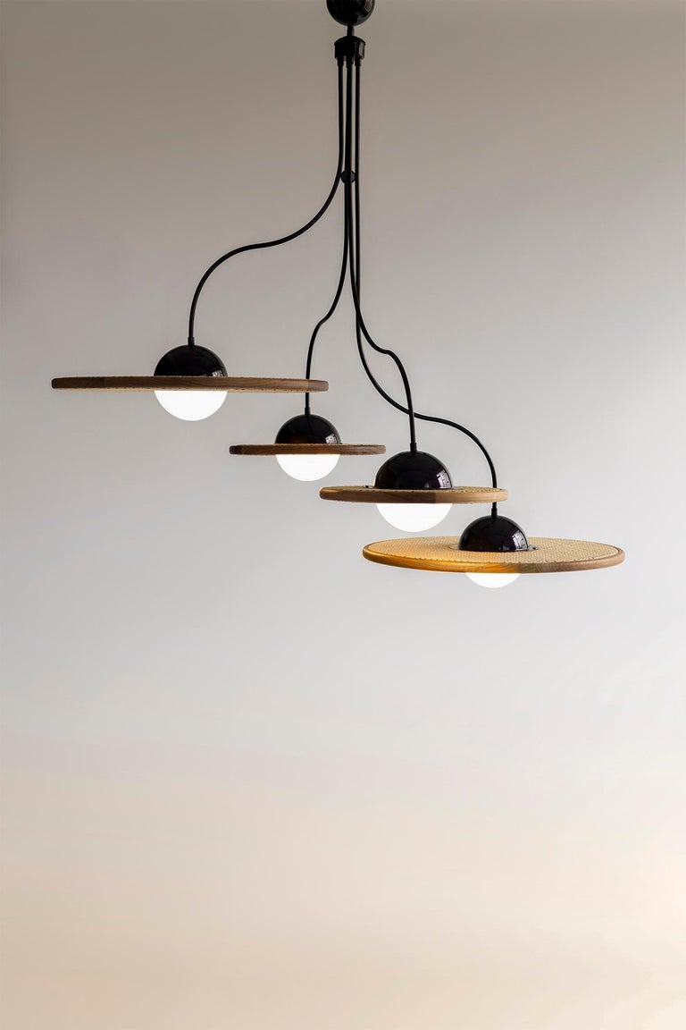Hand-Crafted 21st Century Cassini Glass Chandelier with Cane For Sale