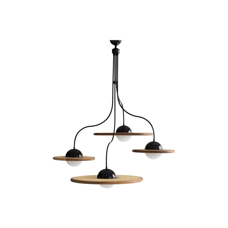21st Century Cassini Glass Chandelier with Cane For Sale