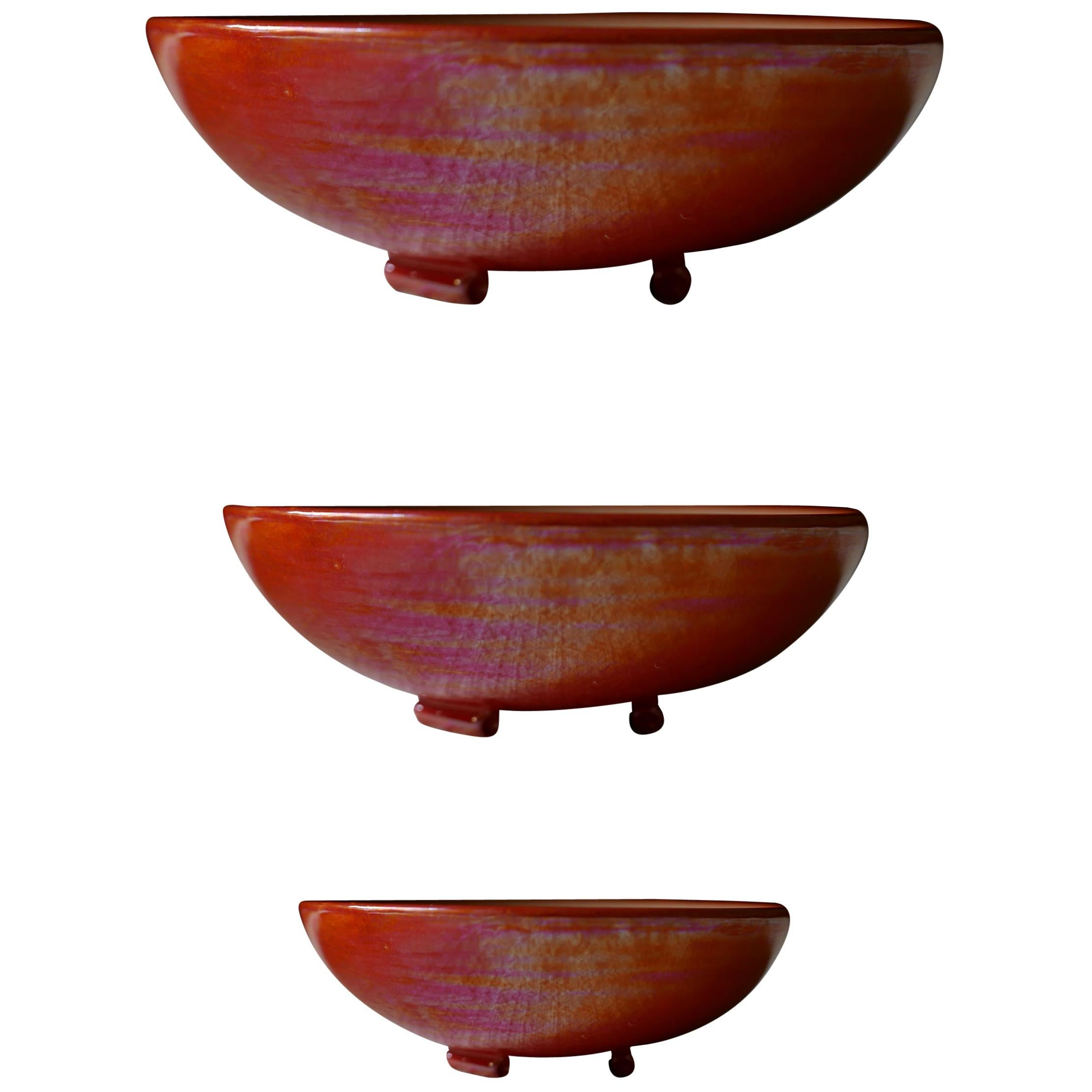 21st Century, Concentric Ceramic Bowls. Made in Italy Hanmade