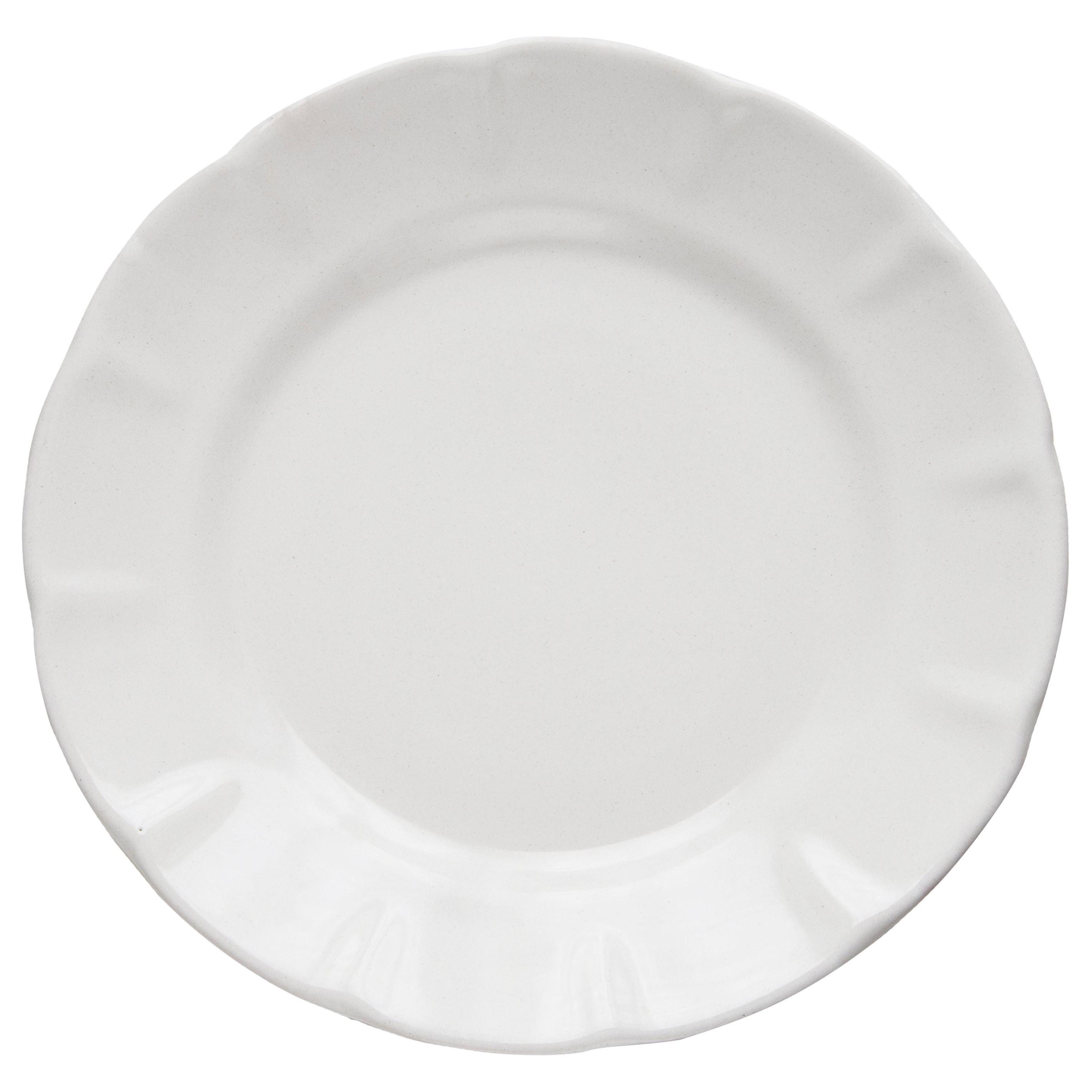 21st Century Ceramic Dinner Plate White Handmade