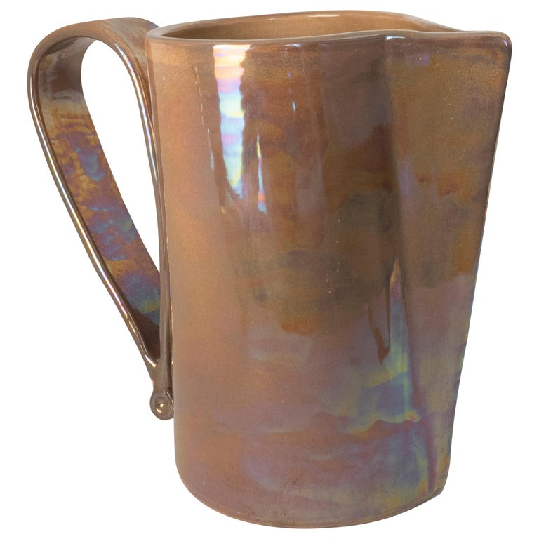 21st Century, Made in Italy Hand made Ceramic Jug For Sale