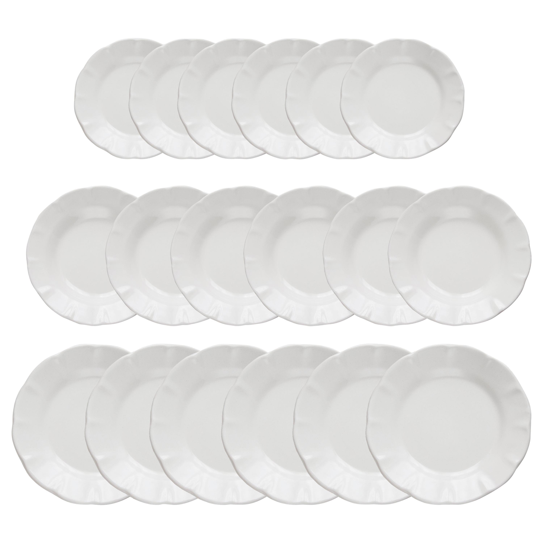 21st Century Vietri Ceramic set of 18 plates White Handmade Made in Italy