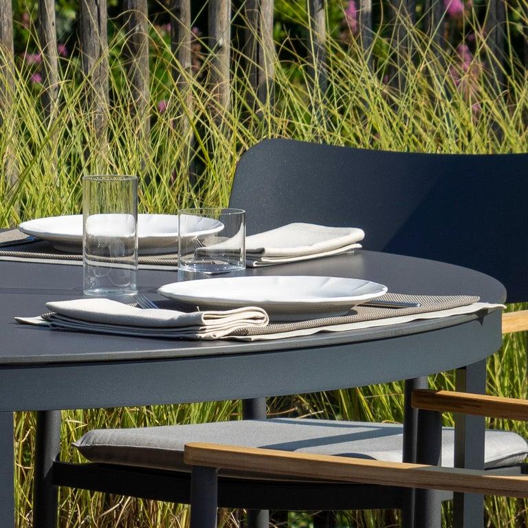 Italian 21st Century Ceramic Set of 6 Dinner Plate White Handmade For Sale