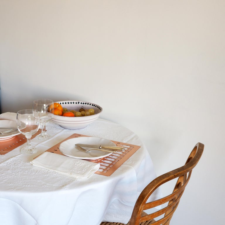 21st Century Ceramic Set of 6 Dinner Plate White Handmade In New Condition For Sale In Milan, IT