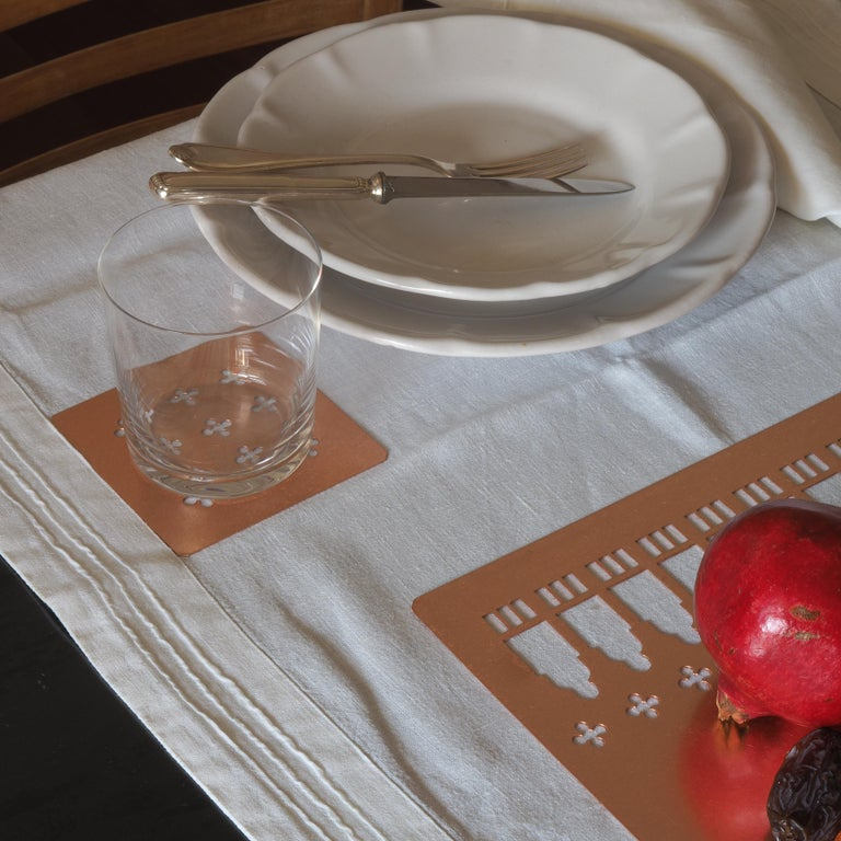 Contemporary 21st Century Ceramic Set of 6 Dinner Plate White Handmade For Sale