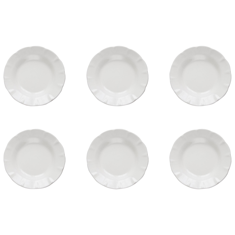 21st CenturyVietri  Ceramic Set of 6 Soup Plate White Handmade Made in Italy