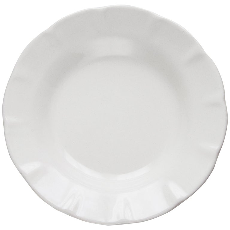 21st Century Ceramic Soup Plate White Handmade For Sale