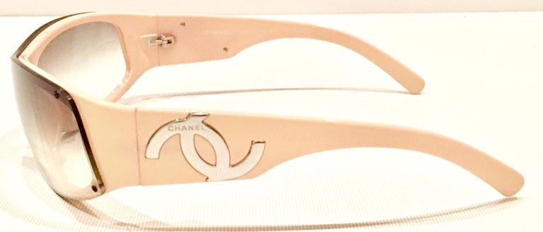 21st Century Chanel Pale Pink & Silver Chrome Infinity