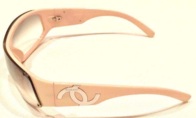 Beige 21st Century Chanel Pink & Chrome