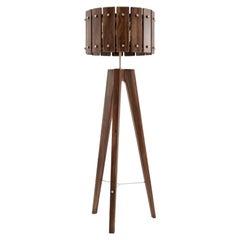 21st Century Charles Floor Lamp Walnut Wood