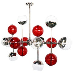 21st Century Cherries Suspension Lamp Brass Glass