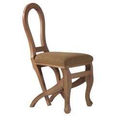 Click Clack Dining Chair in Wood and Fabric