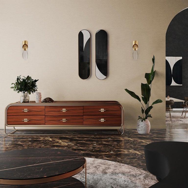 Brushed 21st Century Columbia Sideboard Ebony Wood For Sale