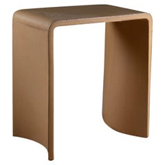 21st Century Concrete Contemporary Stool & Side Table, Honey Jellow Cement Color
