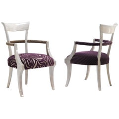 Conservatorio/S Dining Armchair with wood and fabric