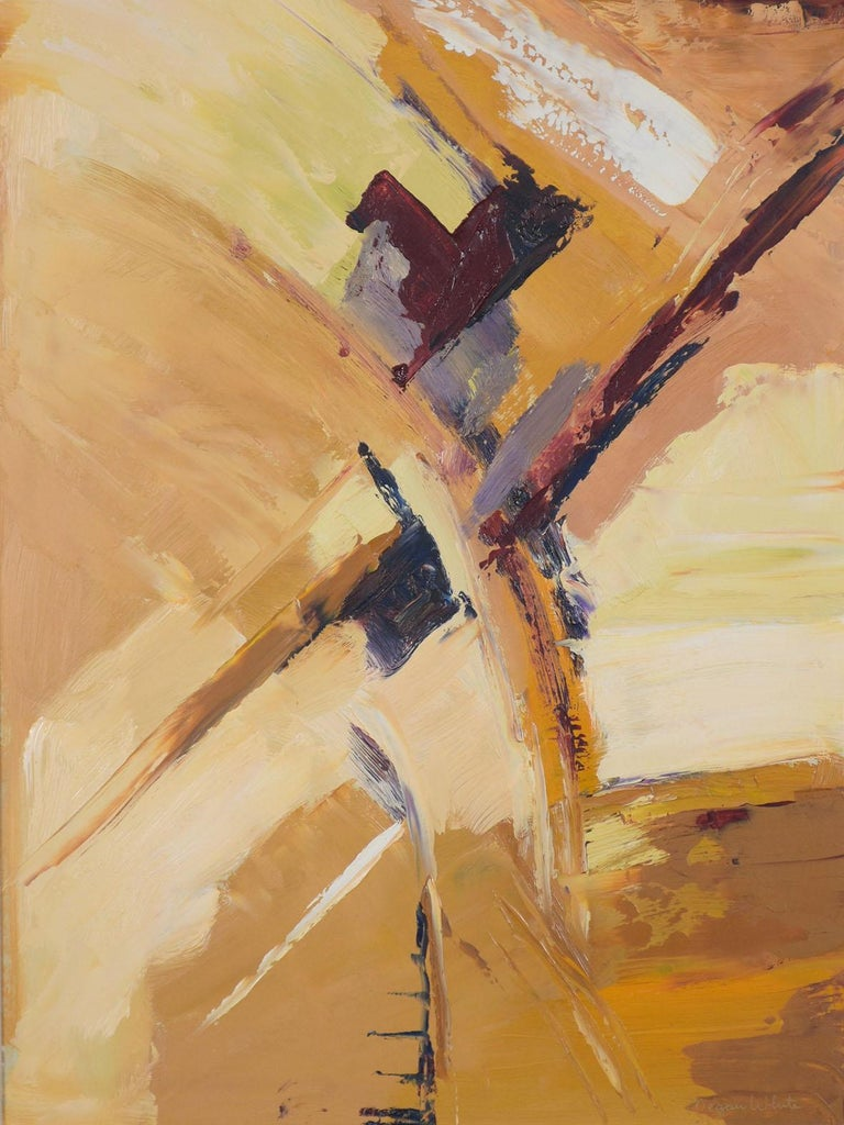 21st Century Contemporary Abstract Acrylic Wall Painting  In Good Condition For Sale In Los Angeles, CA
