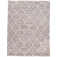 21st Century Contemporary Beige, Gray Kilim, Rug