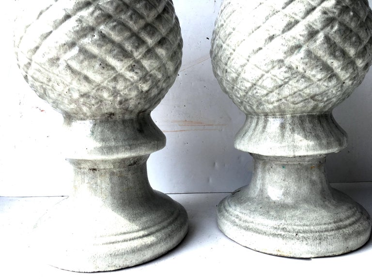 21st Century Contemporary Ceramic Glaze Cone Finial Sculptures For Sale 1