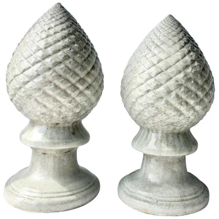 21st Century Contemporary Ceramic Glaze Cone Finial Sculptures For Sale