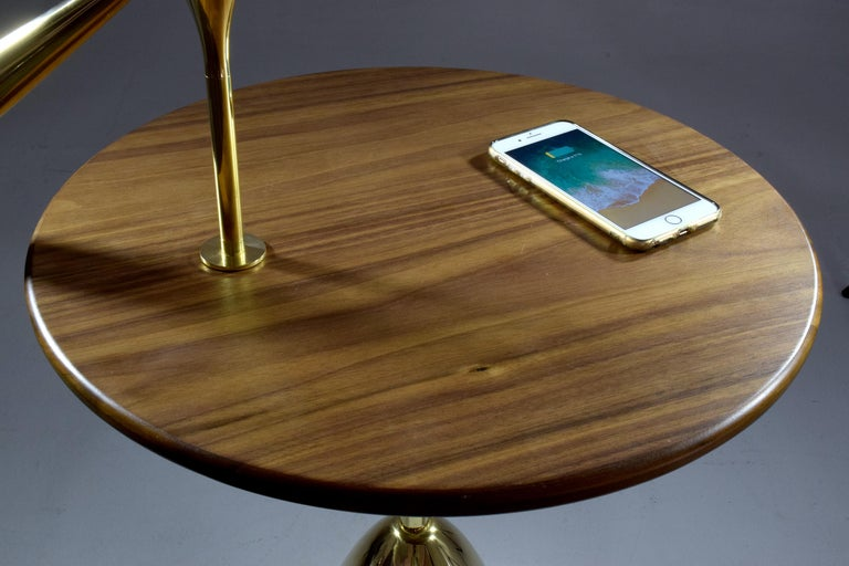 21st Century Contemporary Charging Table with Smartphone or Tablet Holder For Sale 4