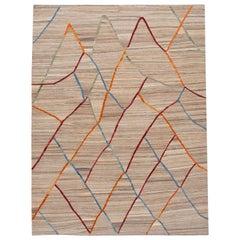21st Century Contemporary Flat-Weave Kilim Wool Rug