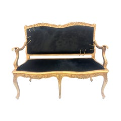 21st Century Contemporary Hairy Leather Sofa with Sculptural Golden Hands