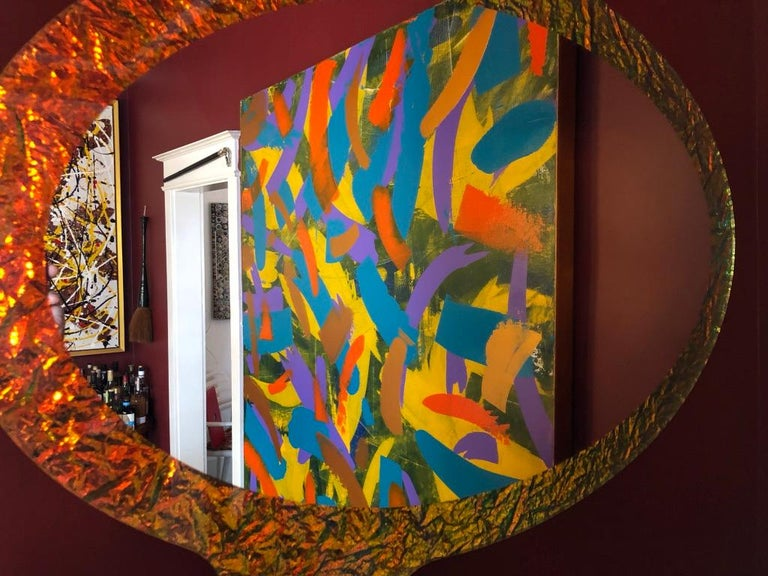 21st Century Contemporary Handmade Crazy Mirror by Troy Smith, Artist Proof In New Condition For Sale In Toronto, Ontario
