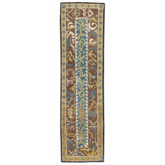 21st Century Contemporary Handmade Persian Tabriz Abstract Runner Rug