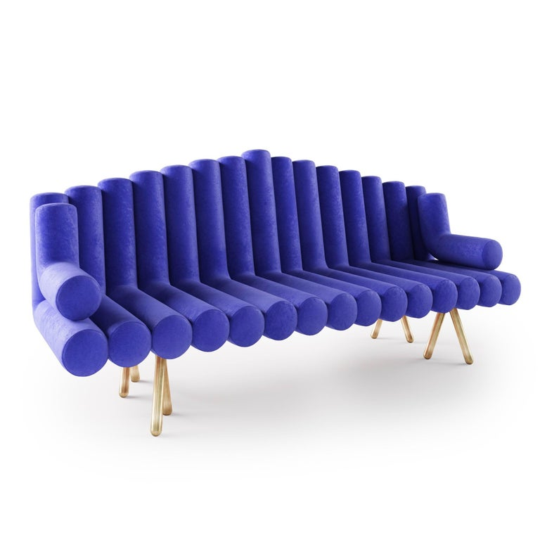 Flute Sofa Contemporary and timeless this classically modern designed sofa is made by hand and designed by Troy Smith in. This sofa is a real statement maker and truly one of a kind, there is simply nothing like it. Built to exacting standards and