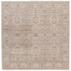 21st Century Contemporary Indian Square Wool Rug