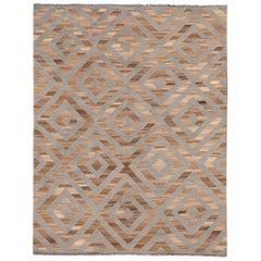 21st Century Contemporary Kilim Wool Rug
