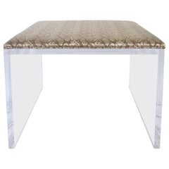 21st Century Contemporary Lucite Upholstered Bench or Table
