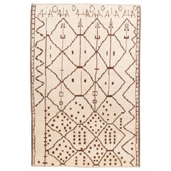 21st Century Contemporary Moroccan Tribal Wool Rug